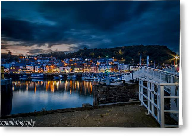 Fishing_boat Greeting Cards - Harbour Lights Greeting Card by Cliff Miller
