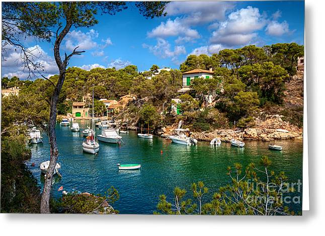 Harbour Of Cala Figuera Greeting Card by Carsten Reisinger