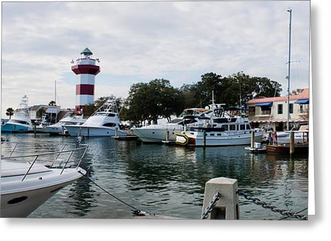 Hilton Greeting Cards - Harbourtown Harbor Greeting Card by Thomas Marchessault