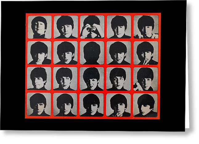Mosaic Portraits Mixed Media Greeting Cards - Hard days night Greeting Card by Gina Dsgn