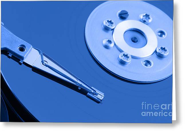 Hard Disk Greeting Card by Georgios Kollidas