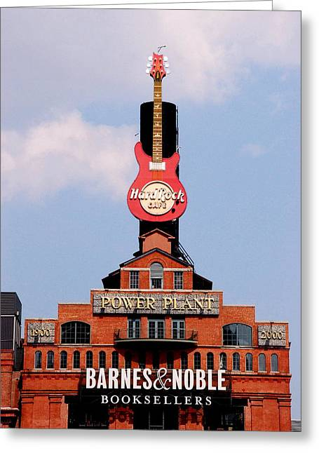 Hard Rock Cafe Building Greeting Cards - Hard Rock Cafe Baltimore Greeting Card by Francie Davis