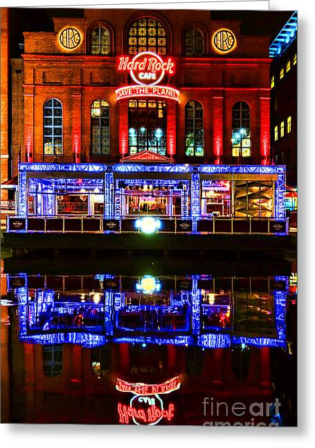 Hard Rock Cafe Greeting Cards - Hard Rock Cafe Baltimore Greeting Card by Olivier Le Queinec
