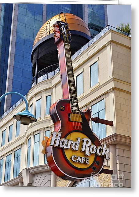 Hard Rock Cafe Building Greeting Cards - Hard Rock Cafe Greeting Card by Helen Sessions