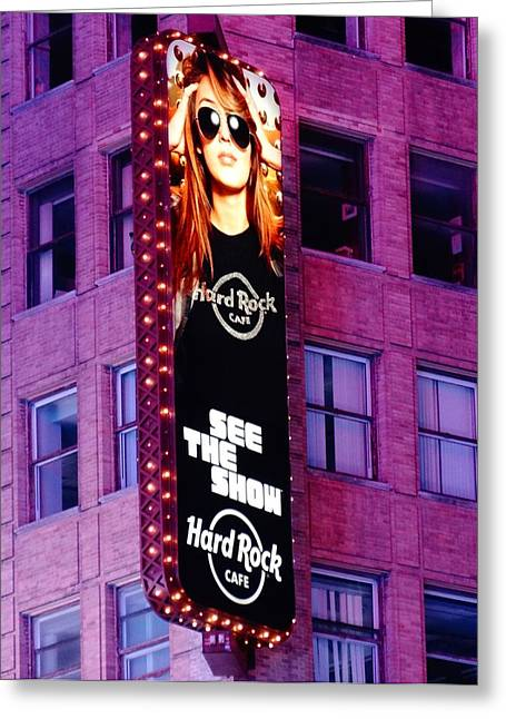 New Mind Greeting Cards - Hard Rock Cafe In New York City Greeting Card by Dan Sproul