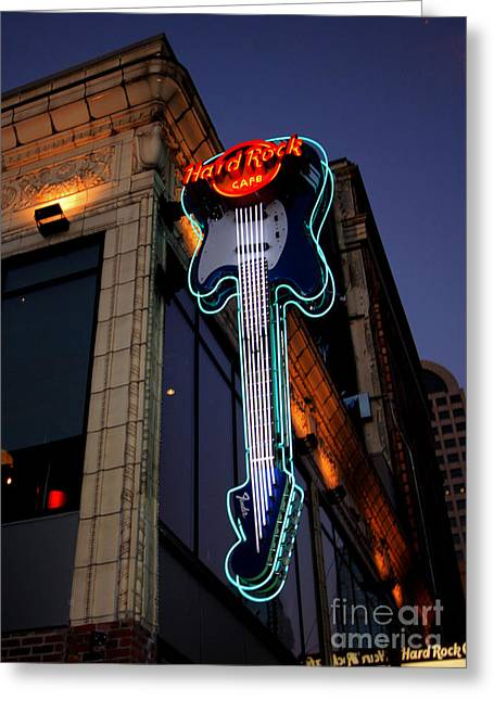 Hard Rock Cafe Greeting Cards - Hard Rock Cafe Greeting Card by Nick Gustafson