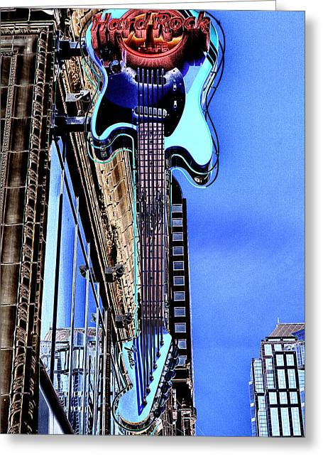 Hard Rock Cafe Greeting Cards - Hard Rock Cafe Seattle Greeting Card by David Patterson