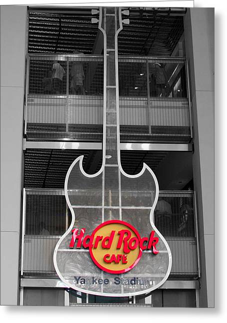 Yogi Berra Greeting Cards - Hard Rock Cafe Sign Full  Greeting Card by Aurelio Zucco