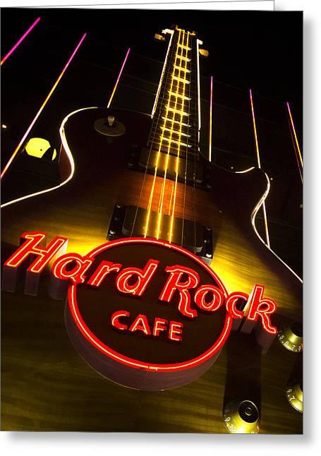 Las Vegas Art Greeting Cards - Hard Rock Cafe Vegas Greeting Card by Stephanie McDowell
