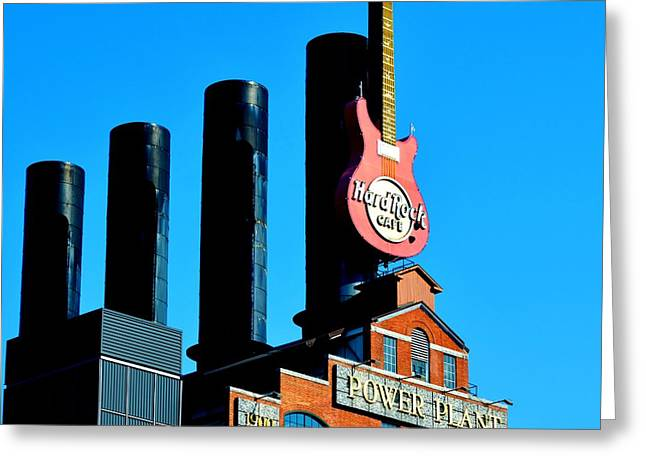 Hard Rock Cafe Building Greeting Cards - Hard Rock Greeting Card by William Bartholomew