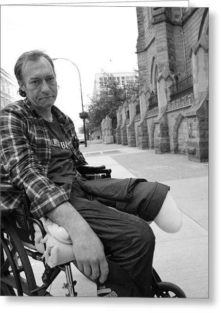 Wheelchair Greeting Cards - Hard Ways Greeting Card by Jerry Cordeiro