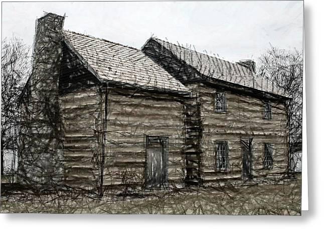 Carpenter Lake Greeting Cards - Hardin Thomas - Lincoln Heritage House - Elizabethtown KY Greeting Card by Thia Stover