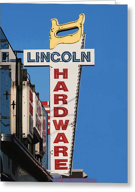 Hardware Greeting Cards - Hardware Sign Greeting Card by Art Block Collections