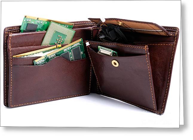 Computer Parts Greeting Cards - Hardware wallet Greeting Card by Sinisa Botas