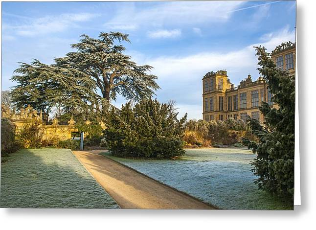 Old Bess Greeting Cards - Hardwick Hall Greeting Card by Moments In Time  Photography