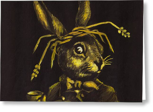 Hare Greeting Card by Suzette Broad