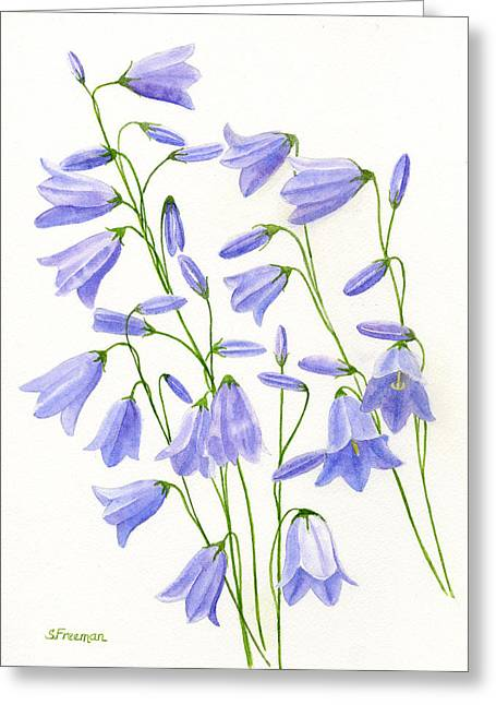 Ladys Greeting Cards - Harebells Greeting Card by Sharon Freeman