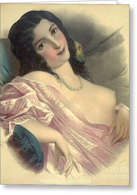 Seraglio Greeting Cards - Harem Girl 1850 Greeting Card by Padre Art