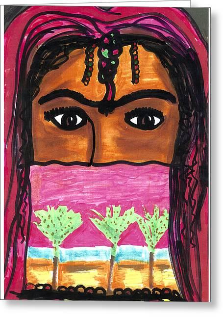 Harem Girl Greeting Card by Don Koester