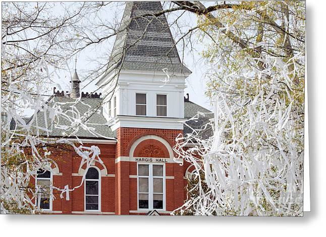Tigers Tradition Greeting Cards - Hargis Hall ll Greeting Card by Victoria Lawrence