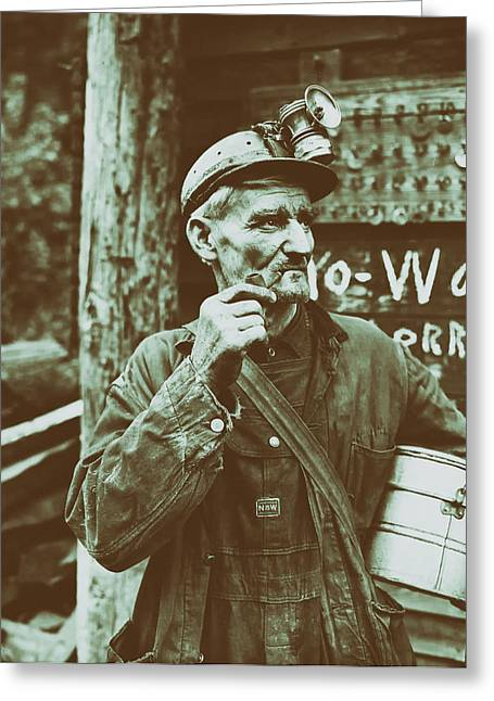 Mining Photos Greeting Cards - Harlan County Kentucky Coal Miner 1946 Greeting Card by Mountain Dreams