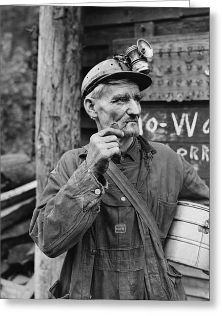 Harlan County Kentucky Coal Miner 1946 Greeting Card by Mountain Dreams