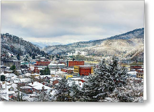 Southeastern Greeting Cards - Harlan KY winter Greeting Card by Anthony Heflin