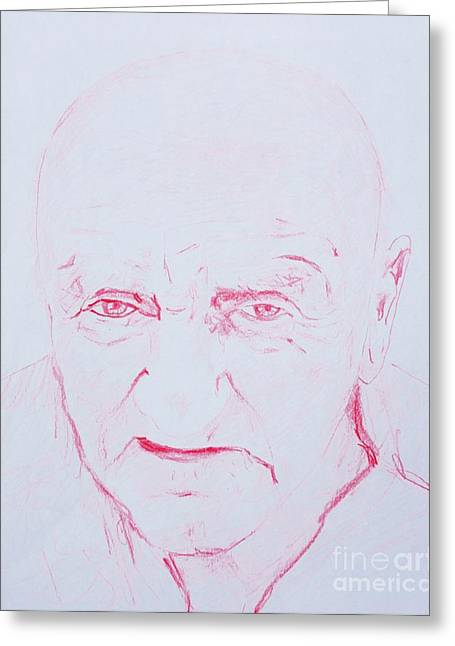 Characterization Greeting Cards - Harlands Portrait Greeting Card by PainterArtist FINs husband Maestro
