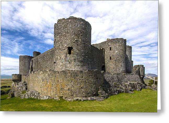 Wales Greeting Cards Greeting Cards - Harlech  Castle  Wales 2 Greeting Card by Paul Cannon