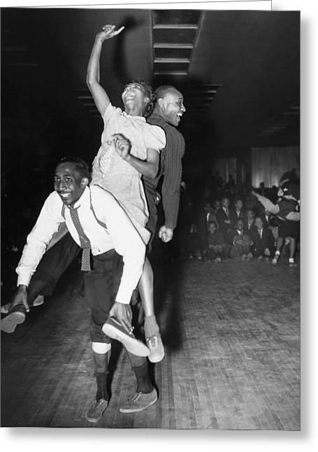 Lindy Greeting Cards - Harlem: Dancers, 1941 Greeting Card by Granger