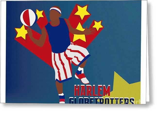 Harlem Globetrotters Greeting Cards - Harlem Globetrotters Greeting Card by Martin Salatta