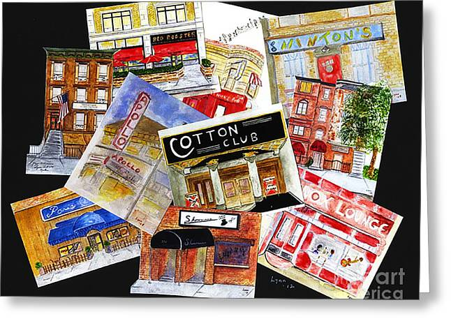 Cotton Club Greeting Cards - Harlem Jazz Clubs Greeting Card by AFineLyne