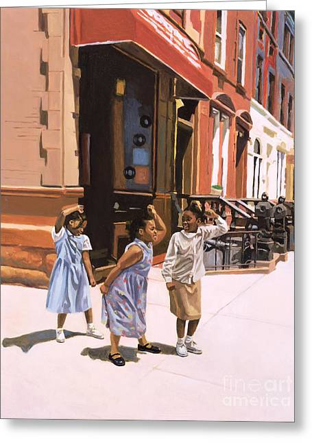 African-american Paintings Greeting Cards - Harlem Jig Greeting Card by Colin Bootman