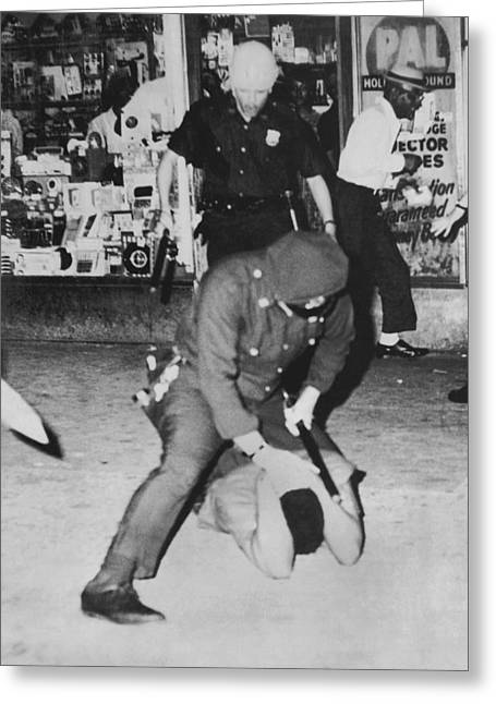 Harlem Race Riots Greeting Card by Underwood Archives