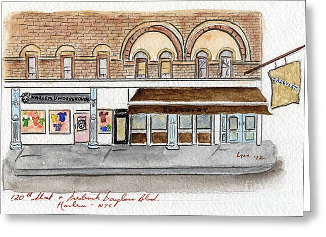 Harlem Underground and Chocolat in Harlem Greeting Card by Lynn Lieberman