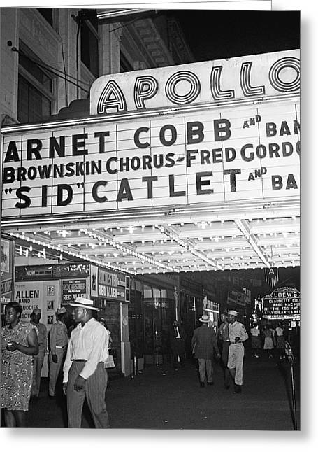Harlem's Apollo Theater Greeting Card by Underwood Archives Gottlieb