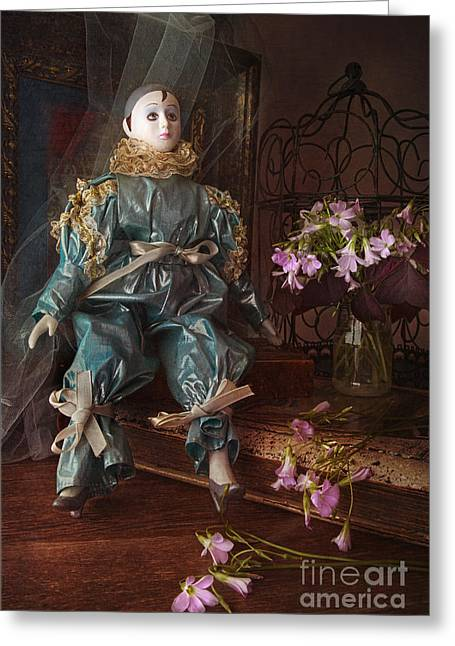 Pierrot Greeting Cards - Pierrot Greeting Card by Elena Nosyreva
