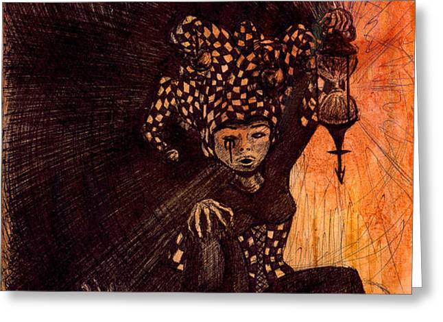 Hermetic Fool Greeting Card by Kd Neeley