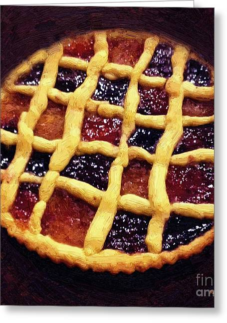 Tabletop Greeting Cards - Harlequin Tart Greeting Card by RC deWinter