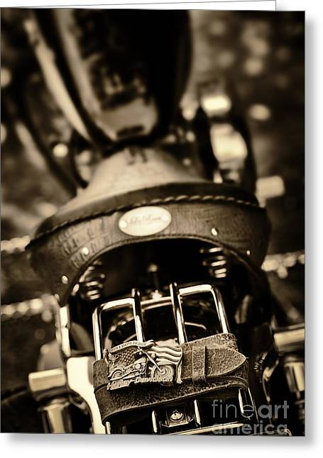 Buckle Greeting Cards - Harley Belt and Buckle Greeting Card by Tim Gainey