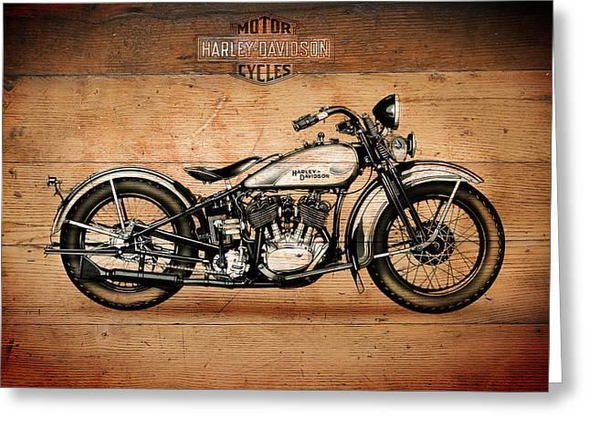 Motorcycles Greeting Cards - Harley Davidson 1933 Greeting Card by Mark Rogan