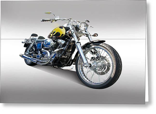 Harley Davidson 2 Studio Greeting Card by Dave Koontz