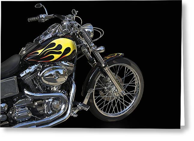 Harley Davidson 3 Studio Greeting Card by Dave Koontz