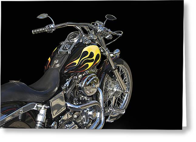 Classic Saddle Greeting Cards - Harley Davidson 4 Studio Greeting Card by Dave Koontz