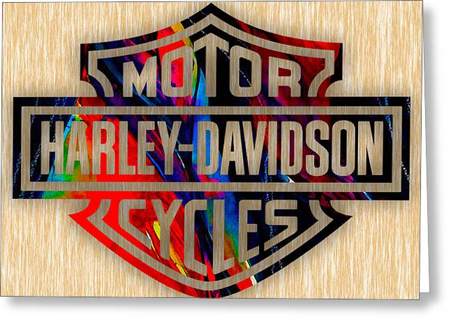Bike Greeting Cards - Harley Davidson Cycles Greeting Card by Marvin Blaine