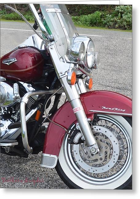 Coast Highway One Greeting Cards - Harley Davidson Detail Greeting Card by Barbara Snyder