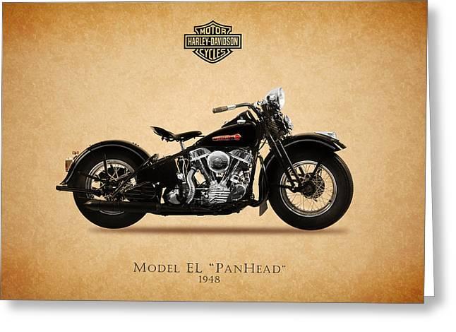 Motorcycles Greeting Cards - Harley-Davidson EL 1948 Greeting Card by Mark Rogan