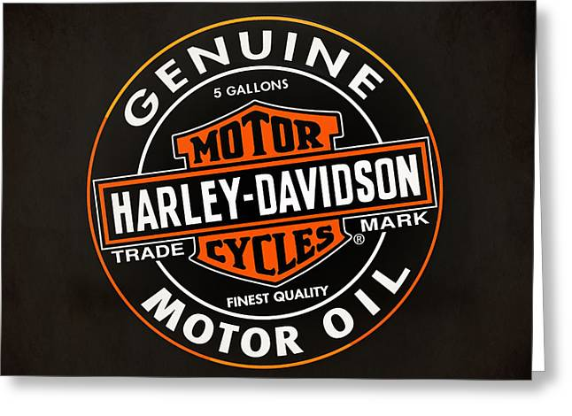 Throw Greeting Cards - Harley Davidson Genuine Greeting Card by Mark Rogan