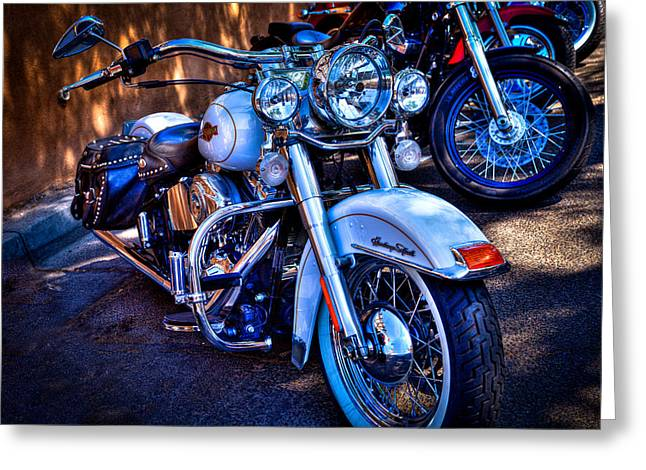 Classic Cycles Greeting Cards - Harley Davidson - Heritage Softail Greeting Card by David Patterson