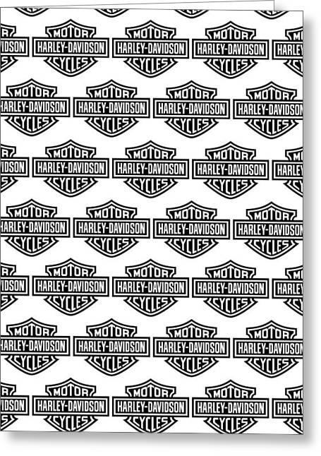 Motorcycles Greeting Cards - Harley Davidson Logo Phone Case Greeting Card by Mark Rogan
